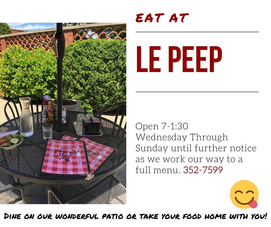 Eat at Le Peep